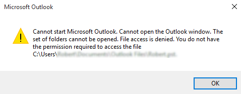 Fixed: PST File Access Denied After Windows 10 Update