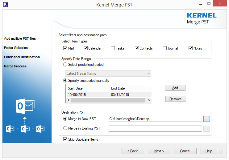 how to merge multiple pst files in outlook 2010