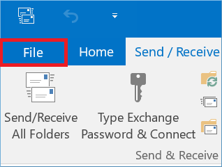 Click File in the toolbar.