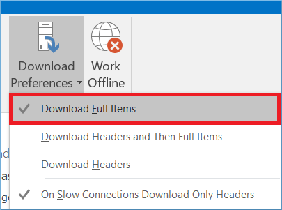 lick the Download Full Items option
