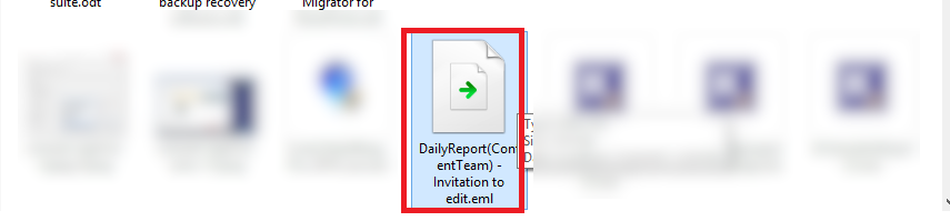 message  downloaded in the EML