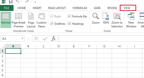 Open the Excel application