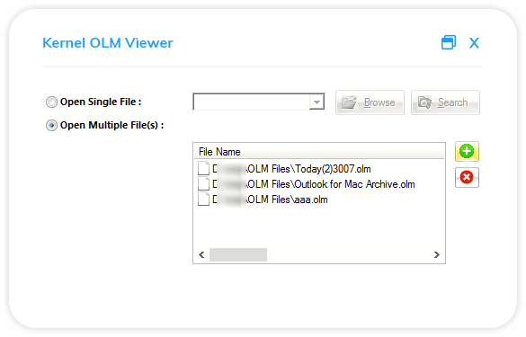 Select the OLM file you wish to view on your system.