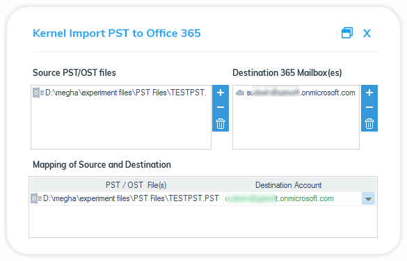 Add PST/OST file as source