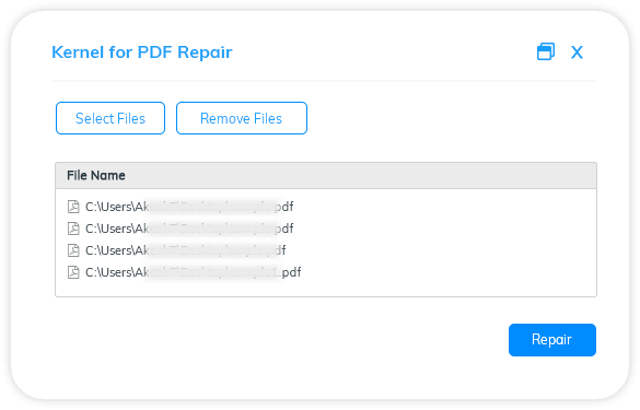 Repair one or more PDF files at a time