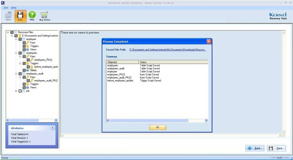 File saved successfully to the desired location on local system.