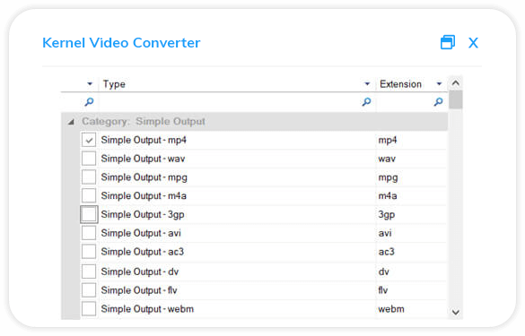 Save file in your desired video format.