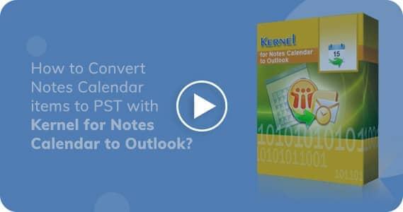Kernel for Convert Notes Calendar to Outlook