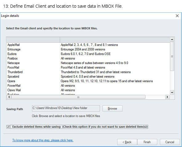 Saving OST data in MBOX email clients