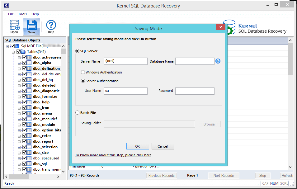 Save data directly to SQL server