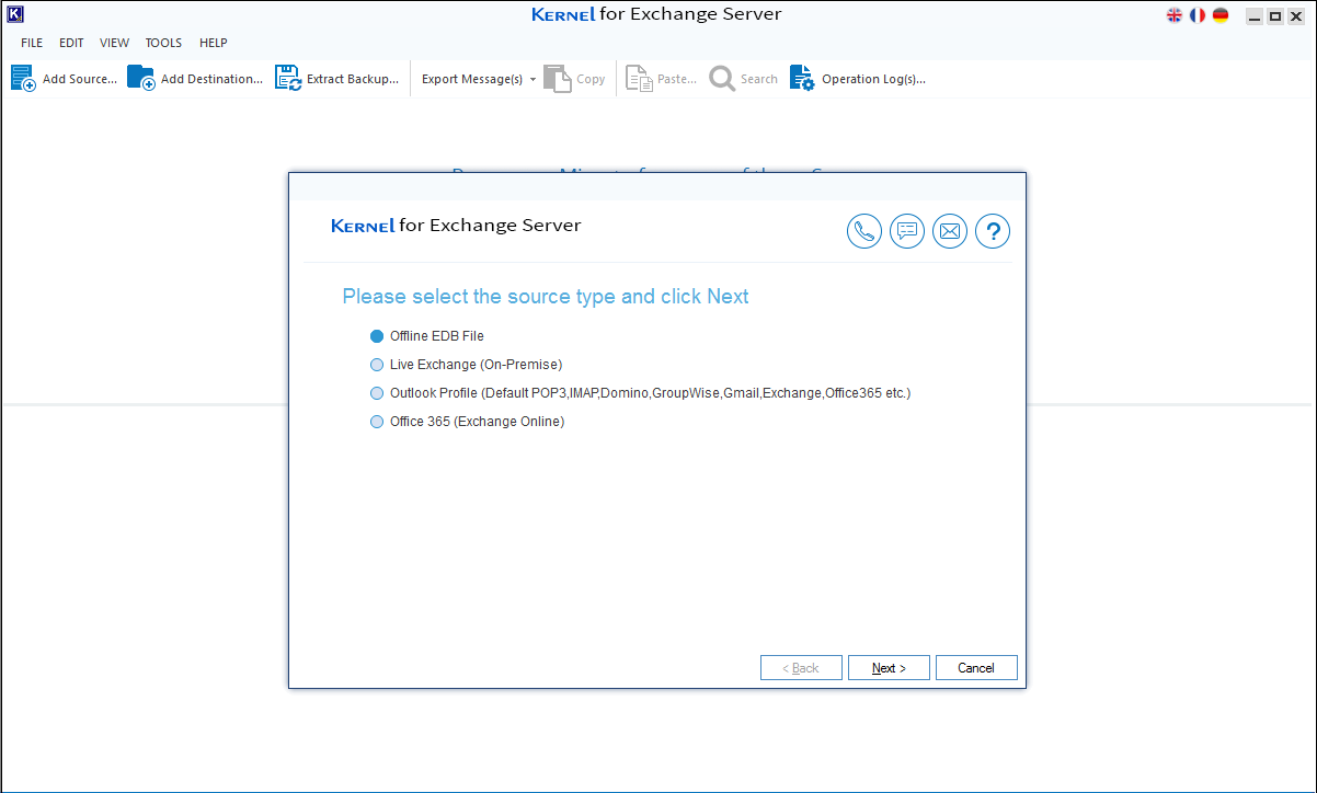 Select EDB file to add as source.
