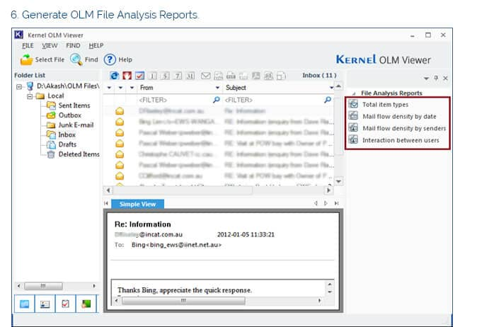 Generate OLM File Analysis Reports