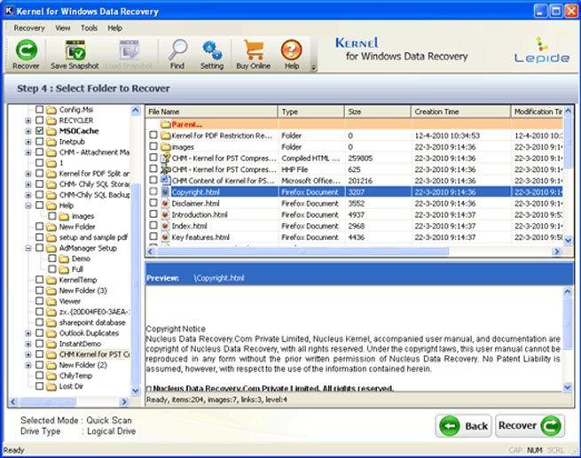 Registration Ntfs Code For Recover Data