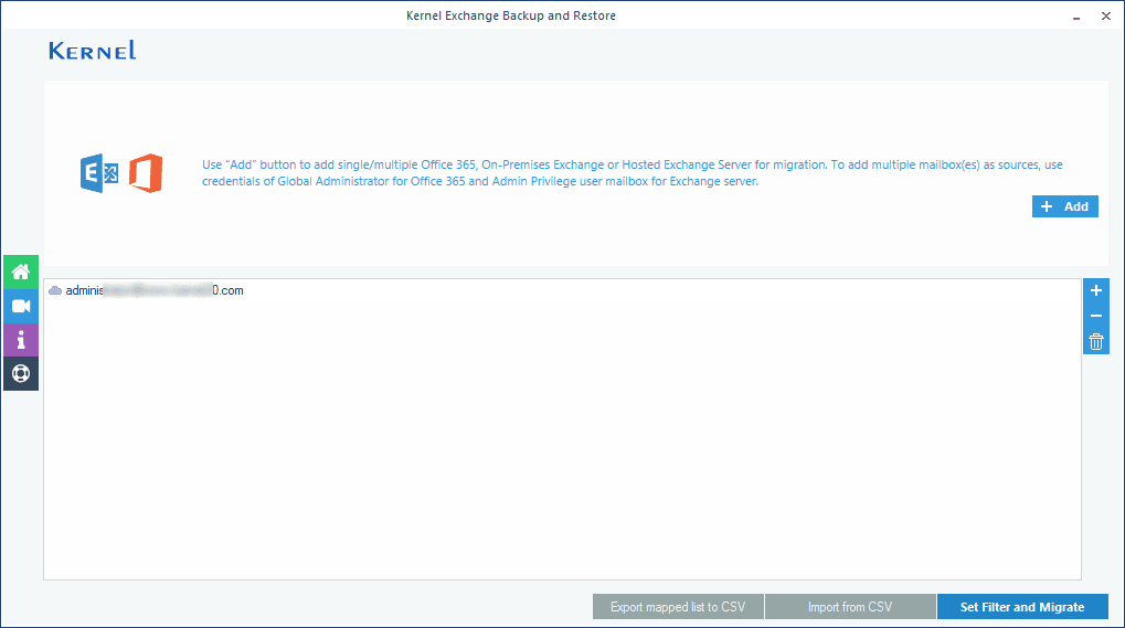 Verifying the Exchange mailbox before starting the backup process