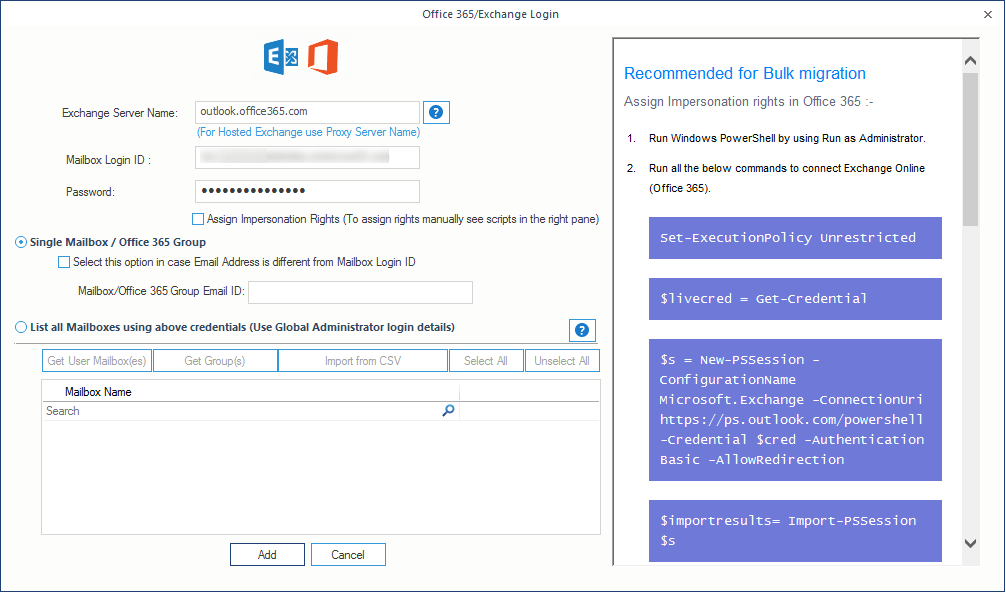 Import PST file to a single Office 365 mailbox