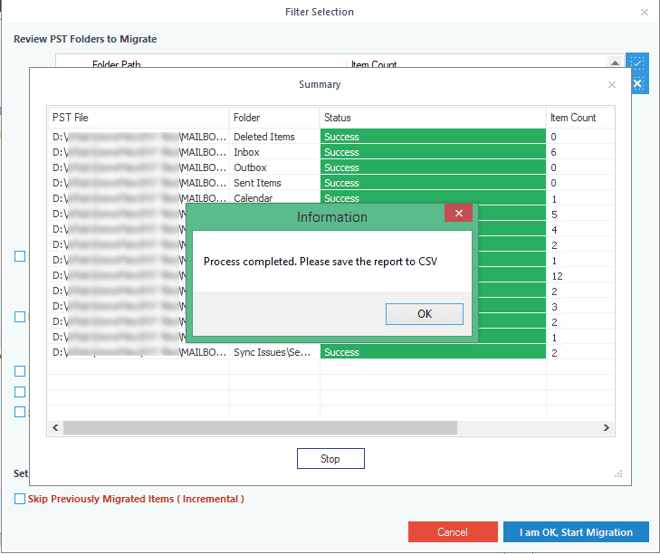 Complete PST to Office 365 import