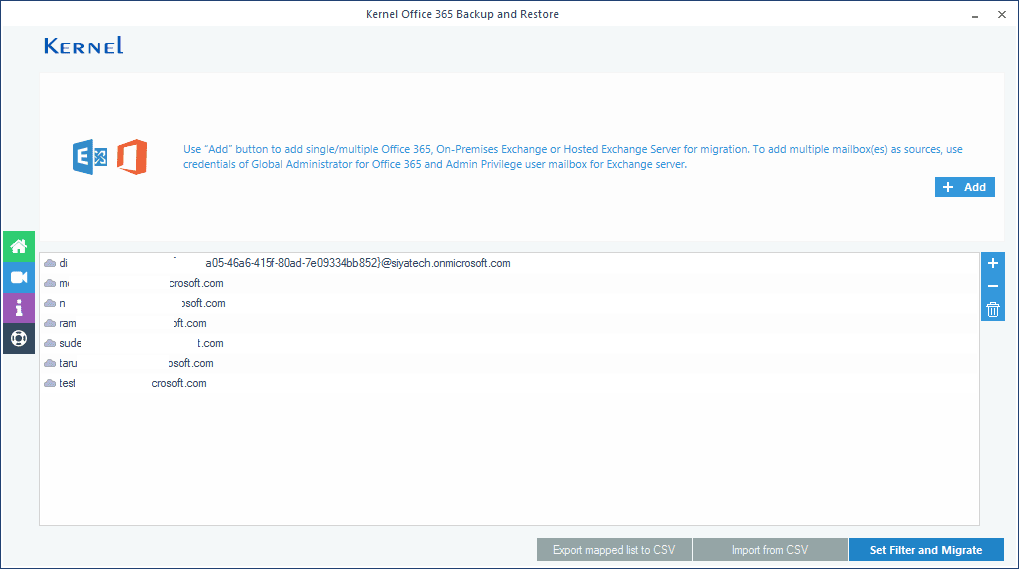 Backup multiple Office 365 mailboxes to PST